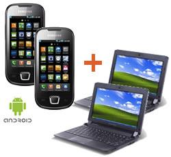 GRATIS 2x Samsung i5800 Galaxy Apollo + 2x Acer eMacine 530