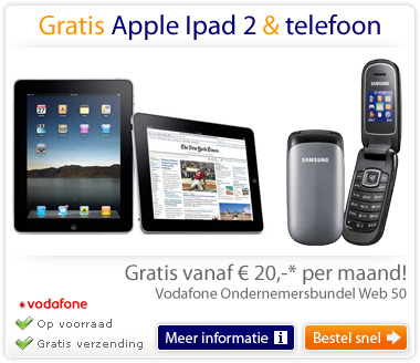 Gratis iPad2 en toestel